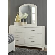 Loveryk 6 Drawer Dresser with Mirror by Darby Home Co®