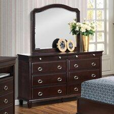Schaffer 8 Drawer Dresser with Mirror by Rosalind Wheeler