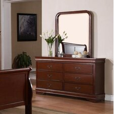 Caldello 6 Drawer Dresser with Mirror by Darby Home Co®