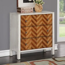 Ila 3 Drawer Standard Chest by Bungalow Rose