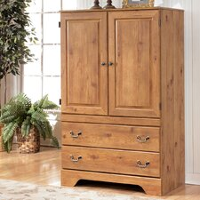 Cheyanne Armoire in Replicated Pine Grain by August Grove® Best Reviews