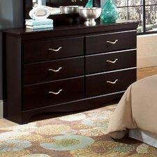 Crossroads 6 Drawer Dresser by Standard Furniture