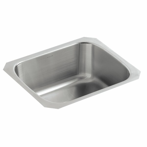 Undertone 18-1/2 L x 15-3/4 W x 8 Under-Mount Single-Bowl Kitchen Sink by Kohler
