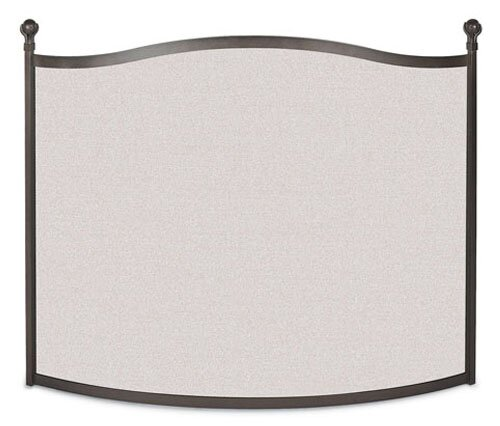 Bowed Ball And Claw Single Panel Steel Fireplace Screen By Pilgrim Hearth