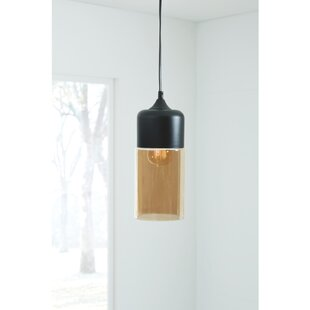 Shopping for Bingen Glass 1-Light Cylinder Pendant By Wrought Studio