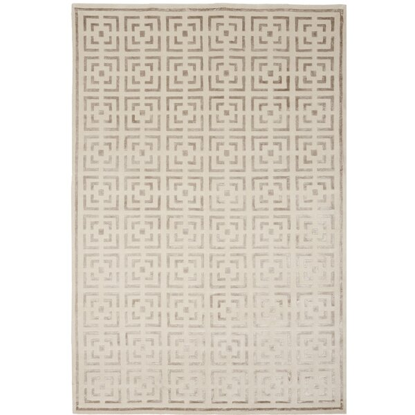 Broadway Hand-Knotted Beige Area Rug by Shalom Brothers