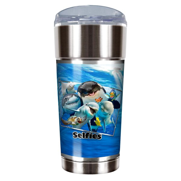 Ocean Selfies 24 oz. Stainless Steel Travel Tumbler by Great American Products