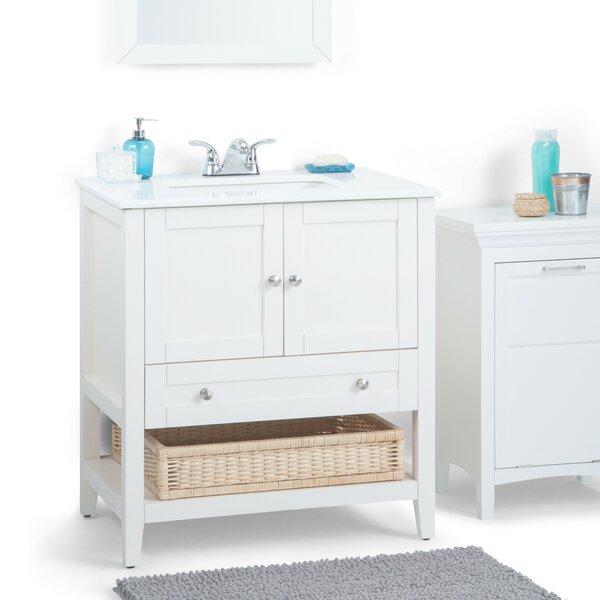 Cape Cod 31 Single Bathroom Vanity Set by Simpli Home