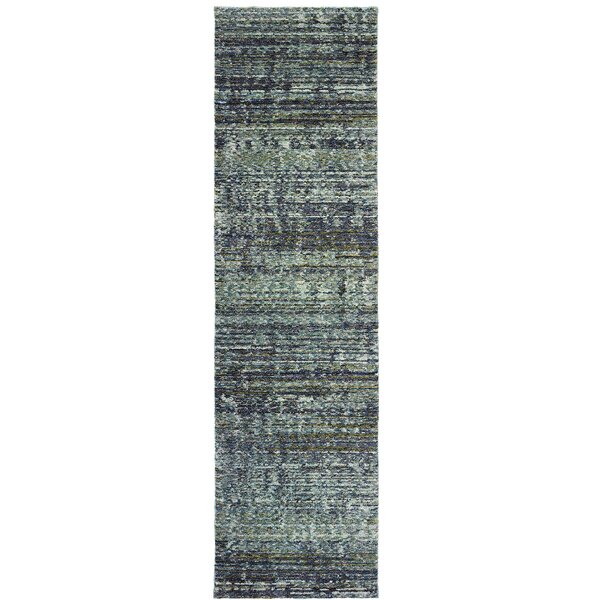 Bobby Blue/Gray Area Rug by Winston Porter