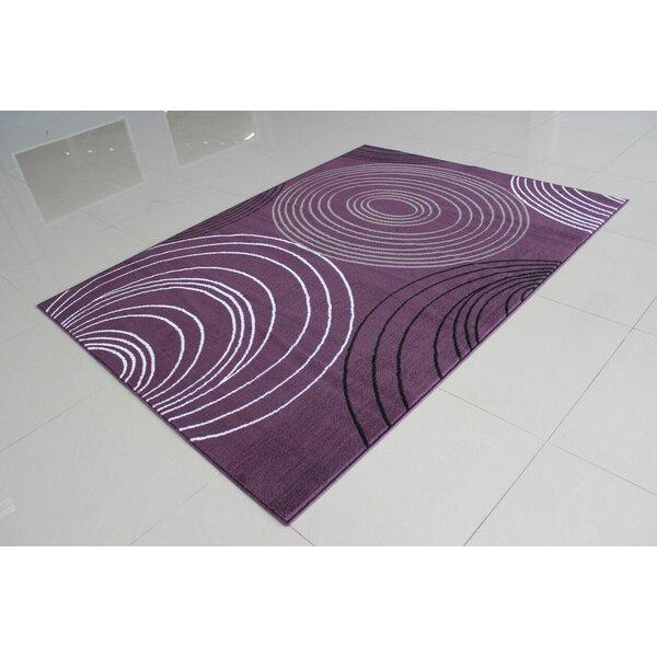 Nogales Purple Area Rug by Ebern Designs