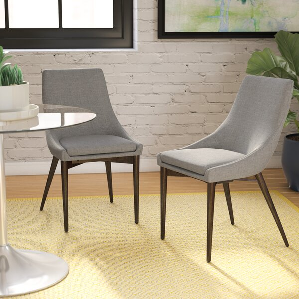 Blaisdell Linen Upholstered Dining Chair (Set of 2) by Mercury Row Mercury Row