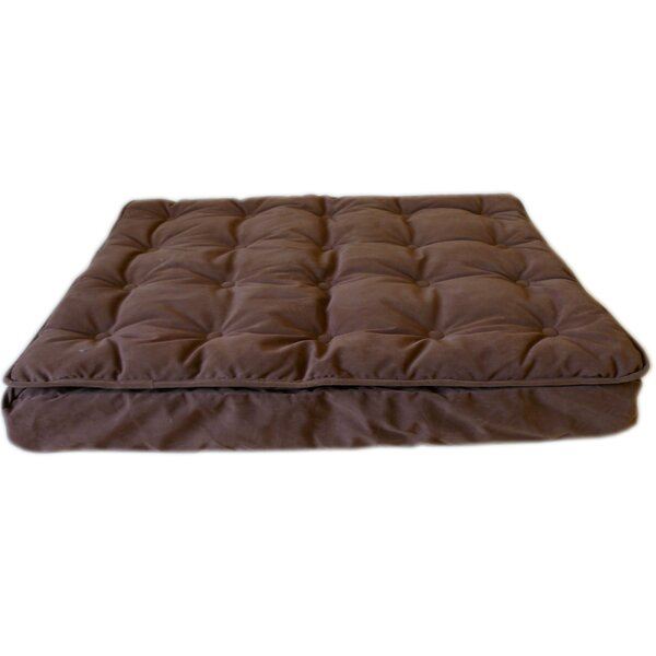 Luxury Pillow Top Mattress Pet Bed in Chocolate by Carolina Pet Company