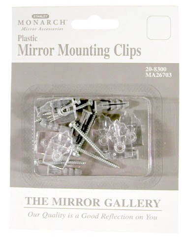 Plastic Mirror Mounting Clip 6 Pack by Home Decor Inc.