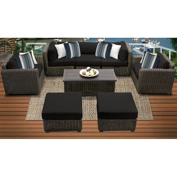 Fairfield 8 Piece Seating Group with Cushions by Sol 72 Outdoor