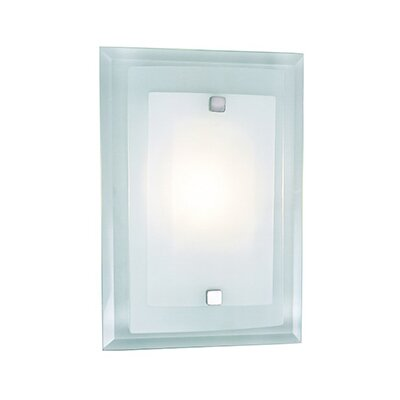 1-Light Square Wall Sconce with Glass Shade by TransGlobe Lighting