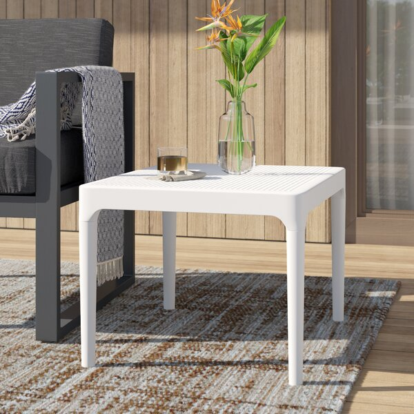Curnutt Plastic Side Table by Mercury Row