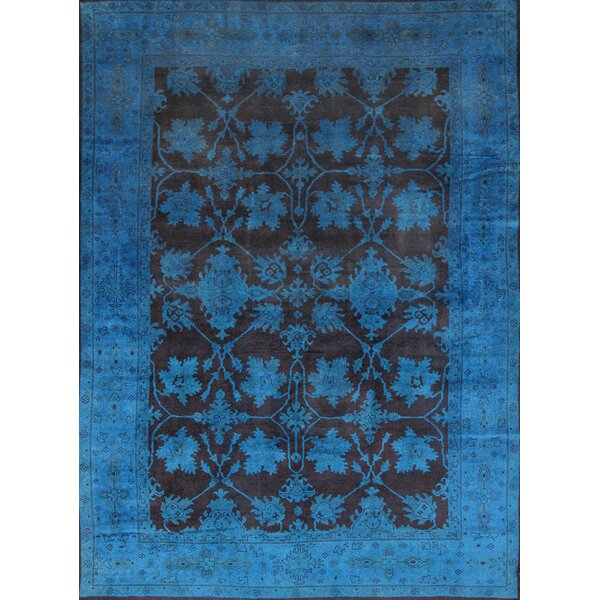 Overdye Hand-Knotted Blue Area Rug by Pasargad