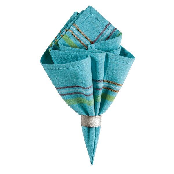 Tropical Striped Napkin (Set of 6) by C&F Home