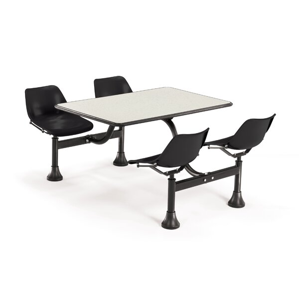 Group/Cluster Table and Chairs 65 x 48 Rectangular Cafeteria Table by OFM