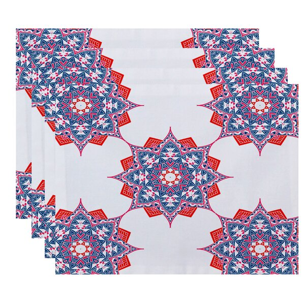 Oliver Rhapsody Geometric Print Placemat (Set of 4) by Bungalow Rose
