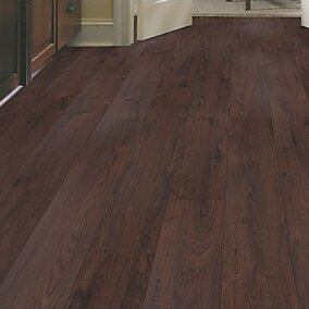 Cabrini 8 x 47 x 7.14mm Oak Laminate Flooring in Chocolate by Mohawk Flooring