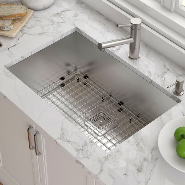 Pax™ 29 x 19 Undermount Kitchen Sink with Drain Assembly by Kraus