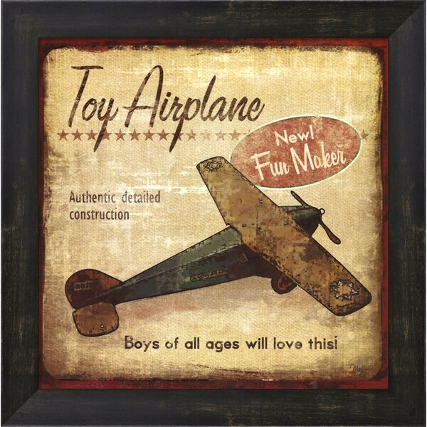 Toy Airplane Framed Art by Evive Designs