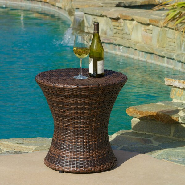 Rushmere Wicker/Rattan Side Table by Beachcrest Home
