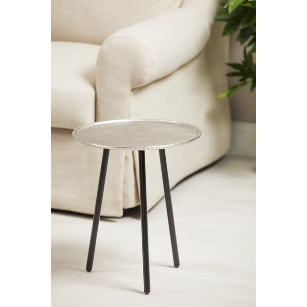 Talbot Casted Aluminum/Iron End Table by World Menagerie
