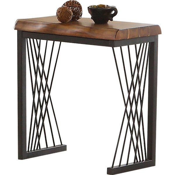 Noelle Metal Frame Wood Side Table by Foundry Select