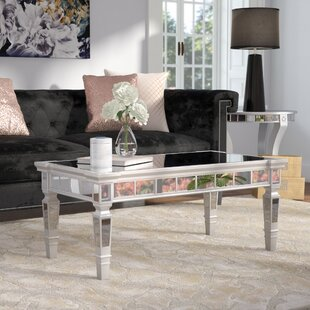 Silver Mirrored Coffee Tables Youll Love Wayfair - Wayfair mirrored coffee table