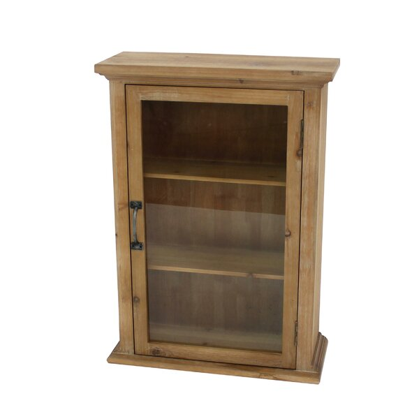 Chapin 21'' W x 28'' H x 8'' D Solid Wood Wall Mounted Bathroom Cabinet