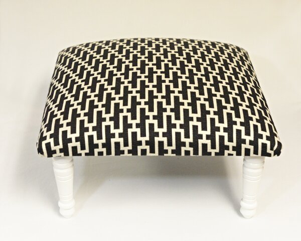 Maxine Zig Zag Accent Stool by Corona Decor