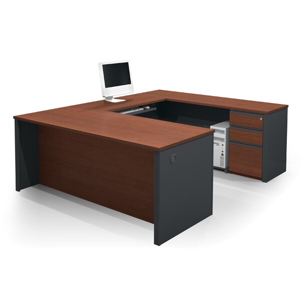 Bormann U-Shape Executive Desk width 3 Drawers by Red Barrel Studio