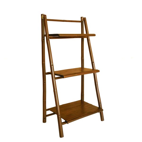 Lapta 3 Tier Bamboo Ladder Bookcase by Bay Isle Ho