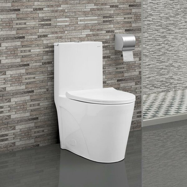 St. Tropez® Dual Flush Elongated One-Piece Toilet (Seat Included) by Swiss Madison