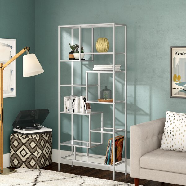Coss Geometric Bookcase By Mercury Row