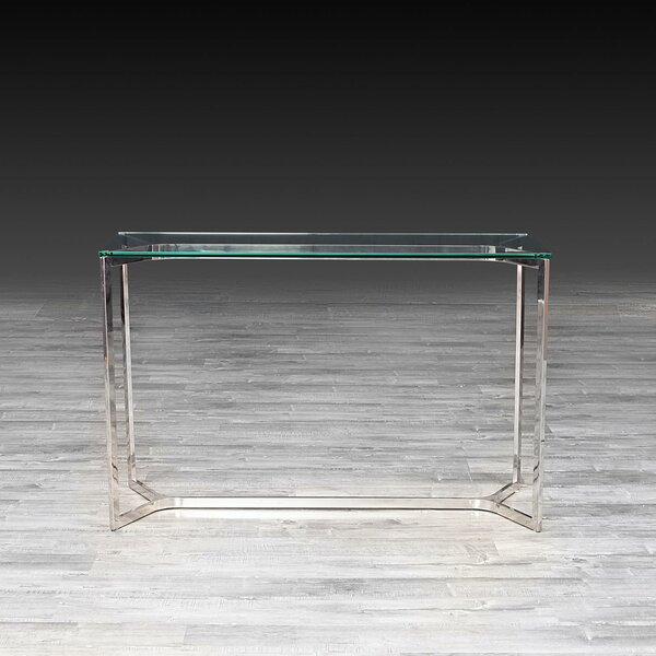 Panek Glass Console Table by Orren Ellis Orren Ellis