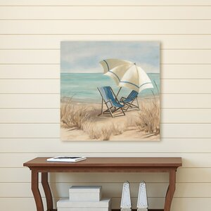 'Summer Vacation II' Print on Wrapped Canvas by Beachcrest Home