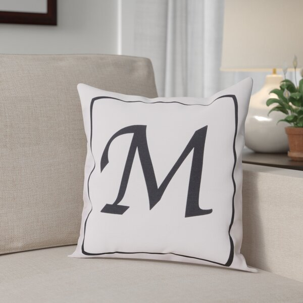 Monogram Throw Pillow by Andover Mills