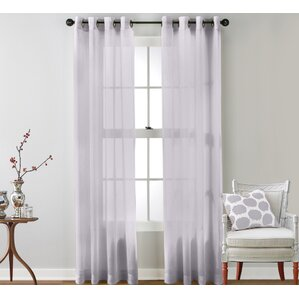 Caldera Sheer Solid Grommet Curtain Panel (Set Of 2)