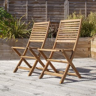 Awesome Harwich Wooden Folding Garden Chair Set Of 2 Ncnpc Chair Design For Home Ncnpcorg