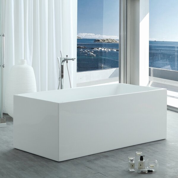 HelixBath Pompeii Modern 67 X 29.5 Freestanding Soaking Bathtub by Kardiel