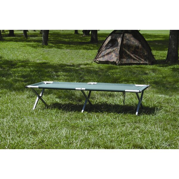 Deluxe Folding Camp Cot in Forest Green by Texsport