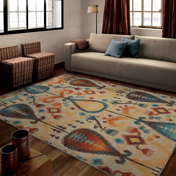 Edgar Beige Area Rug by Threadbind