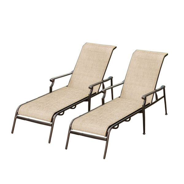 Doucette Sling Chaise Lounge (Set of 2) by Red Barrel Studio