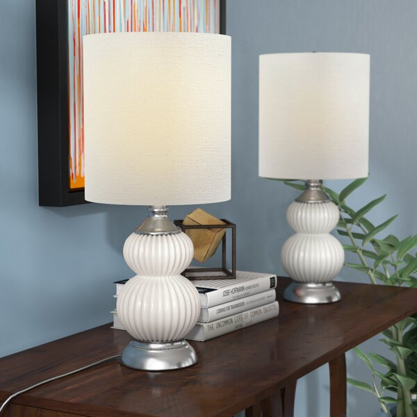 Cianne Glass 21 Table Lamp (Set of 2) by Latitude Run