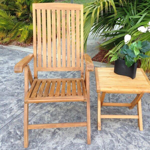 Addilyn Folding Teak Patio Dining Chair By Bay Isle Home