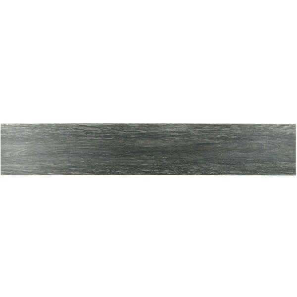 Helena 8 x 45 Porcelain Wood Look Tile in Anthracite by Splashback Tile
