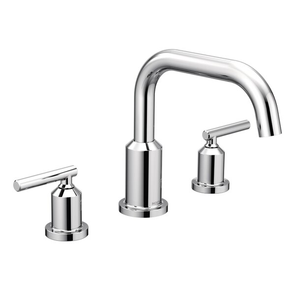 Gibson Double Handle Deck Mounted Roman Tub Faucet Trim By Moen